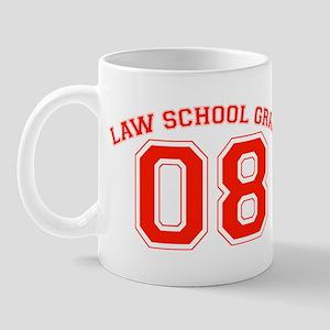 Law School Grad 08 (Red) Mug