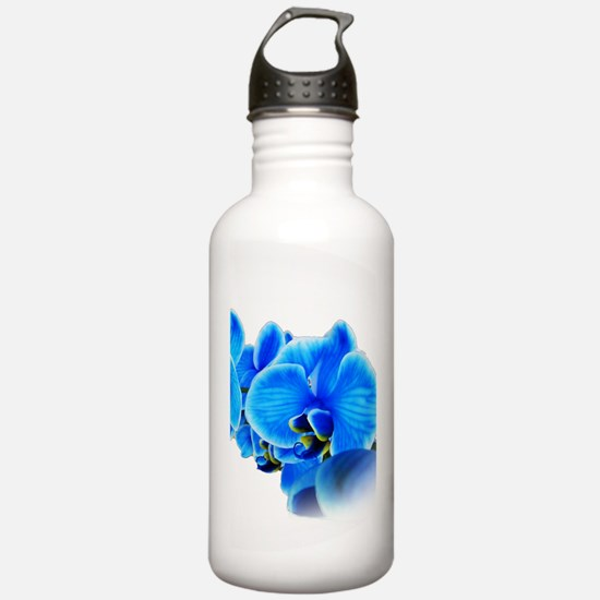 Ice blue orchids Water Bottle