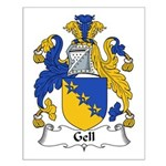 Gell Family Crest Small Poster