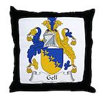Gell Family Crest Throw Pillow
