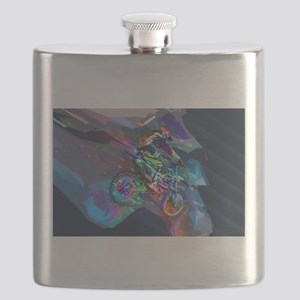 Super Crayon Colored Dirt Bike Careening Dow Flask