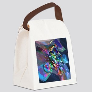 Super Crayon Colored Dirt Bike Ca Canvas Lunch Bag