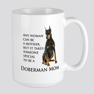 Doberman Mom Travel Mugs