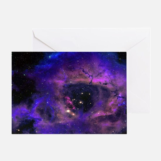 Rossette Nebula Greeting Card