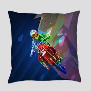 Super Crayon Colored Dirt Bike Lea Everyday Pillow