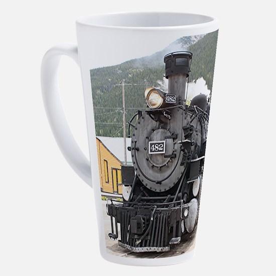 Steam train engine Silverton, Colo 17 oz Latte Mug