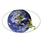 Earth Frog Sticker