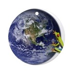 Earth Frog Ornament (Round)