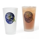 Earth Frog Drinking Glass