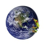 Earth Frog Button