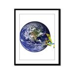 Earth Frog Framed Panel Print