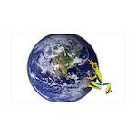 Earth Frog Wall Decal