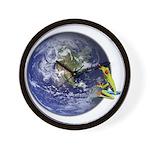 Earth Frog Wall Clock