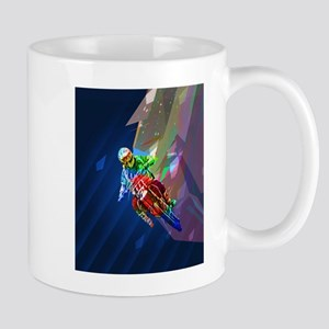 Super Crayon Colored Dirt Bike Leaning Into C Mugs