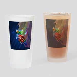 Super Crayon Colored Dirt Bike Lean Drinking Glass