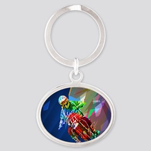 Super Crayon Colored Dirt Bike Leaning I Keychains