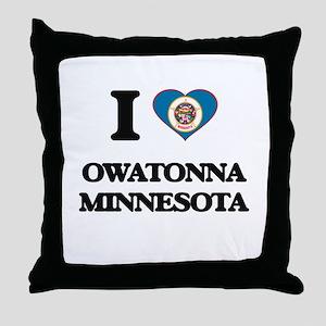I love Owatonna Minnesota Throw Pillow