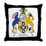 Garter Family Crest Throw Pillow
