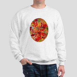 Festive Autumn Green Man Sweatshirt