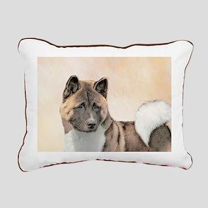Akita Rectangular Canvas Pillow