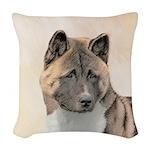 Akita Woven Throw Pillow