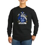 Garnier Family Crest Long Sleeve Dark T-Shirt