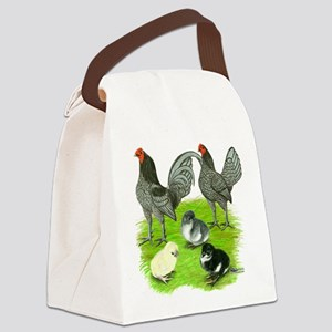 Old English Blue Game Chicken Family Canvas Lunch