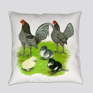 Old English Blue Game Chicken Everyday Pillow