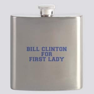 Bill Clinton for First Lady-Var blue 500 Flask