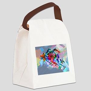 Super Crayon Colored Sprinters Canvas Lunch Bag