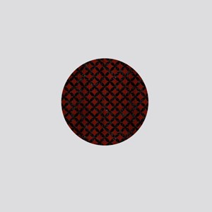 CIRCLES3 BLACK MARBLE & RED WOOD Mini Button