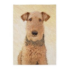 Airedale Terrier 5'x7'Area Rug