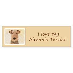 Airedale Terrier Sticker (Bumper 50 pk)
