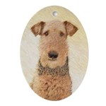 Airedale Terrier Oval Ornament