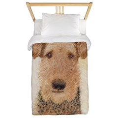 Airedale Terrier Twin Duvet Cover