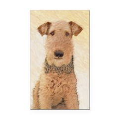 Airedale Terrier Rectangle Car Magnet