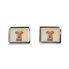 Airedale Terrier Rectangular Cufflinks