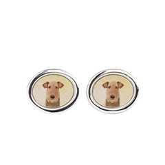 Airedale Terrier Oval Cufflinks