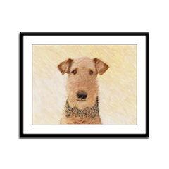 Airedale Terrier Framed Panel Print