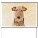 Airedale Terrier Yard Sign