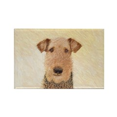 Airedale Terrier Rectangle Magnet (100 pack)