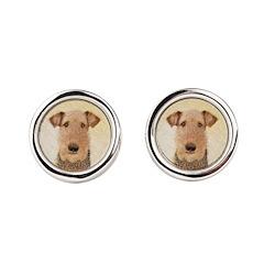 Airedale Terrier Round Cufflinks