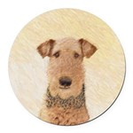 Airedale Terrier Round Car Magnet