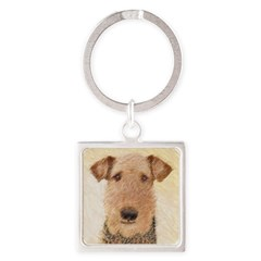 Airedale Terrier Square Keychain