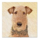 Airedale Terrier Square Car Magnet 3