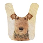 Airedale Terrier Polyester Baby Bib