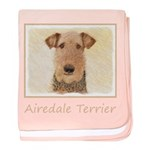 Airedale Terrier baby blanket