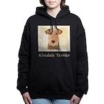 Airedale Terrier Women's Hooded Sweatshirt