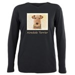 Airedale Terrier Plus Size Long Sleeve Tee