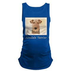Airedale Terrier Maternity Tank Top